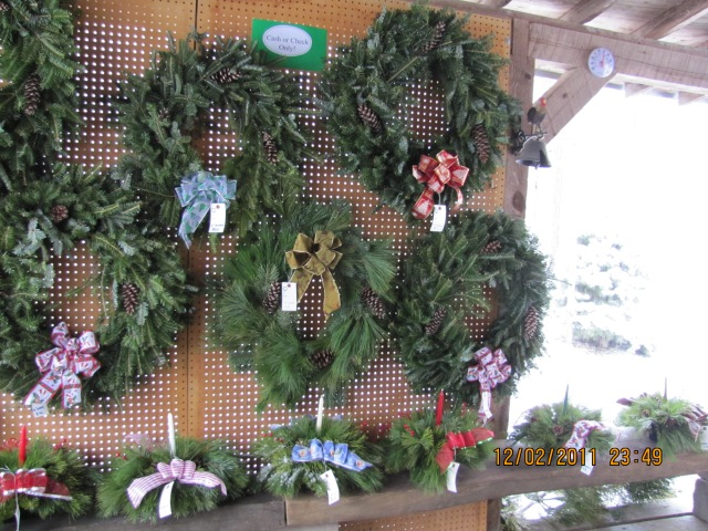 Wreath Display and Center Pieces